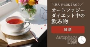 オートファジーダイエット中の飲み物【紅茶】